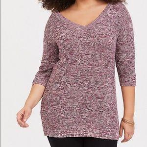 Torrid purple lace back sweater